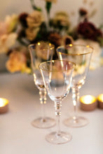 Load image into Gallery viewer, Glassware - Gold Rimmed Champagne
