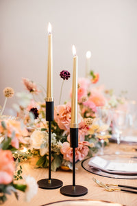 Black & Gold Candle Stick - Large