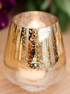 Gold & White Candle Holders