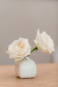 White Ceramic Posy Vase