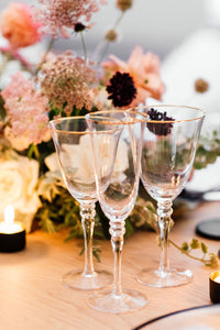 Gold Rimmed White Wine Glass