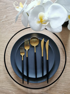 Cutlery - Black & Gold Full Set