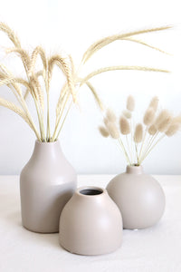 Natural Ceramic Tall Vase