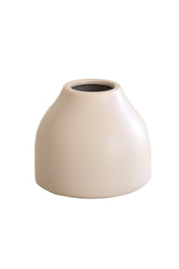 Natural Ceramic Squat Vase