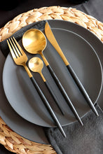 Load image into Gallery viewer, Black & Gold Teaspoon