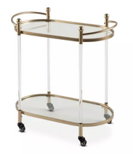 Load image into Gallery viewer, Drinks Trolley - Gold Modern Moveable
