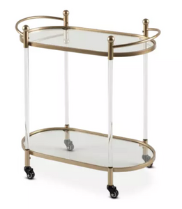 Drinks Trolley - Gold Modern Moveable