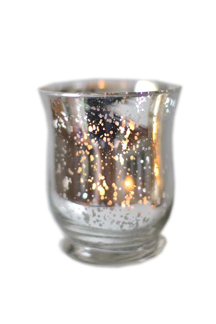 Silver Hurricane Candle Holder