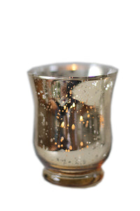 Gold Hurricane Candle Holder