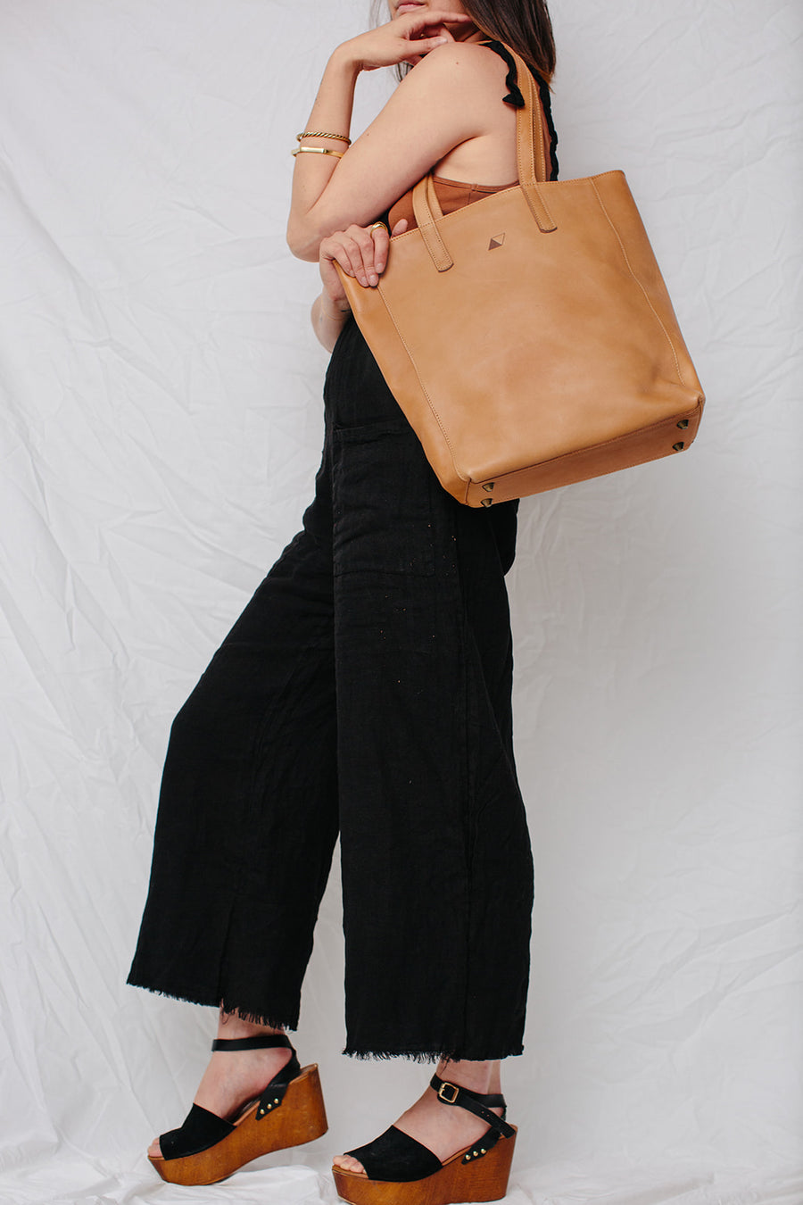 joanie leather tote