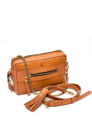 Essential Crossbody Bag, Chestnut