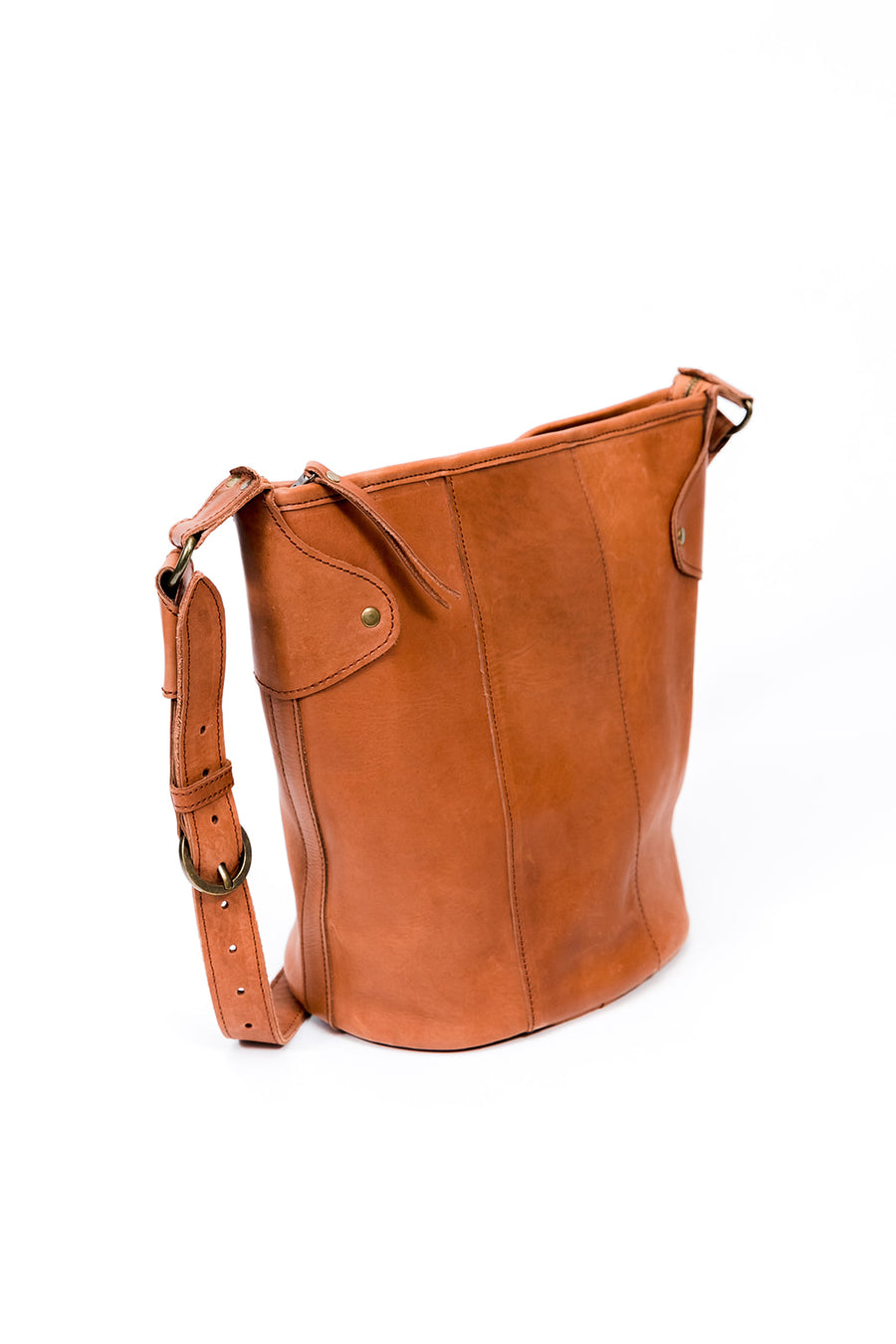 Keri Bucket Bag, Chestnut