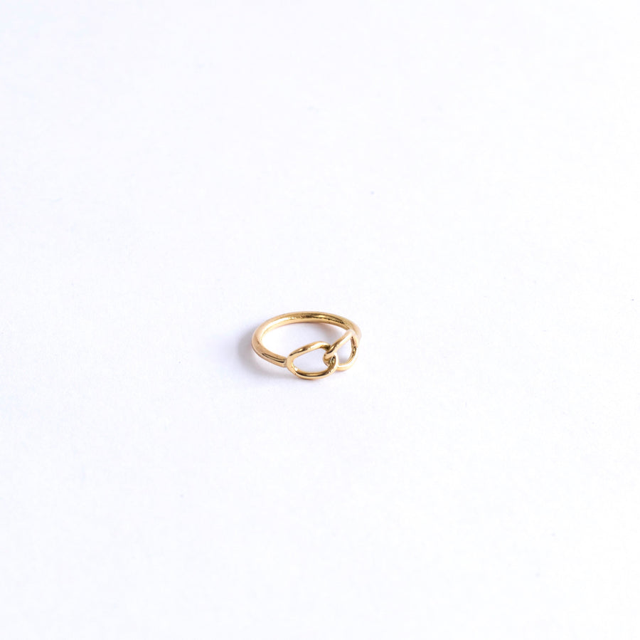 knotted brass ring