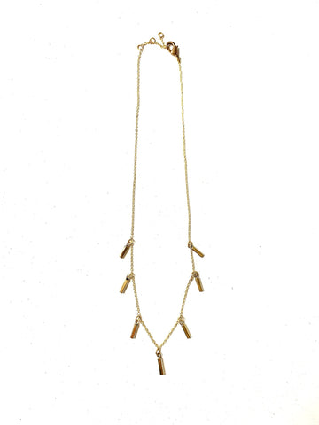brass bar necklace