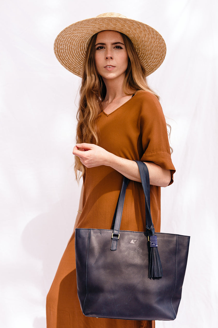 charlotte leather tote