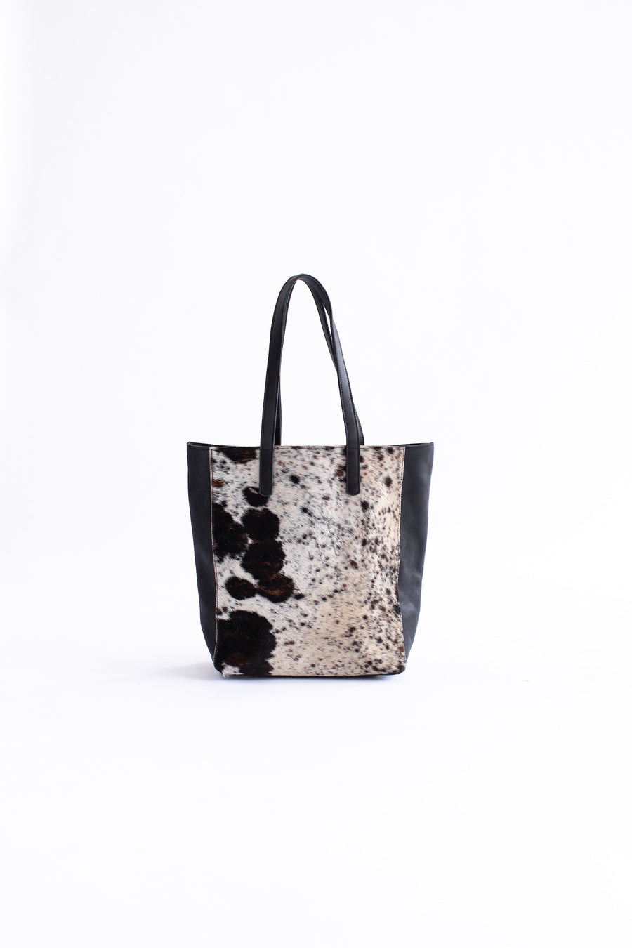 cow hide leather tote