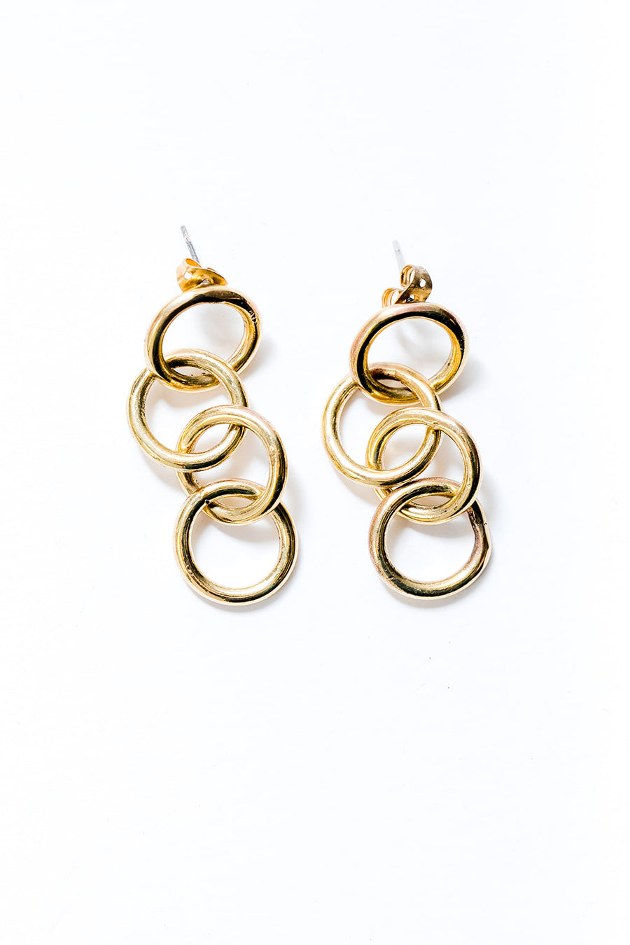 Demi circle link earrings