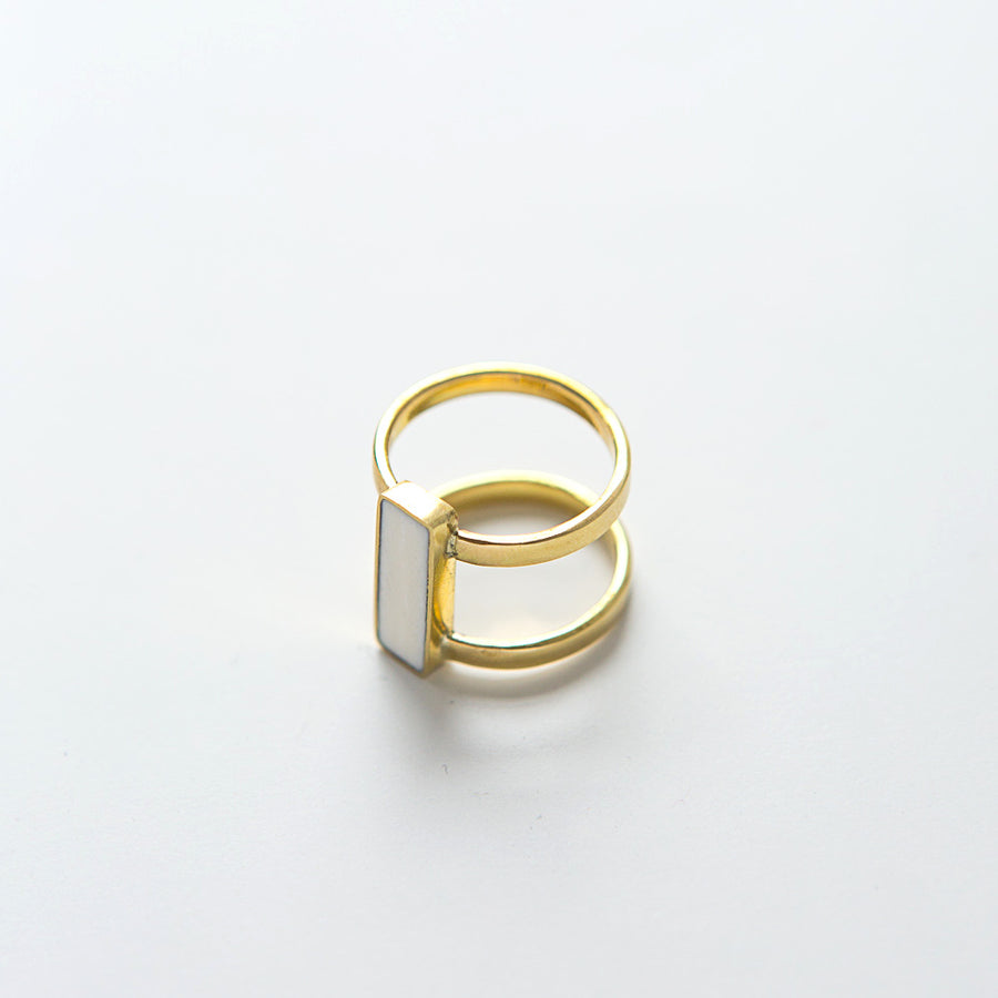 Eliza Ring bone and brass