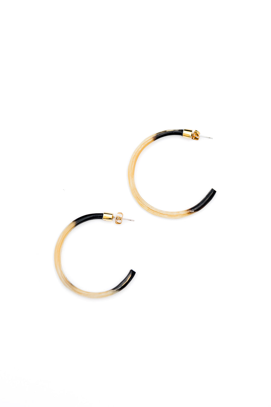 Amber Horn Hoops, Large