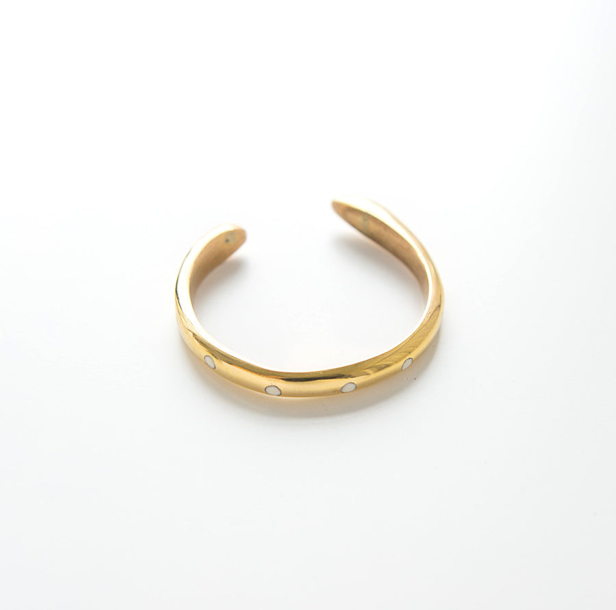 brass and bone bracelet