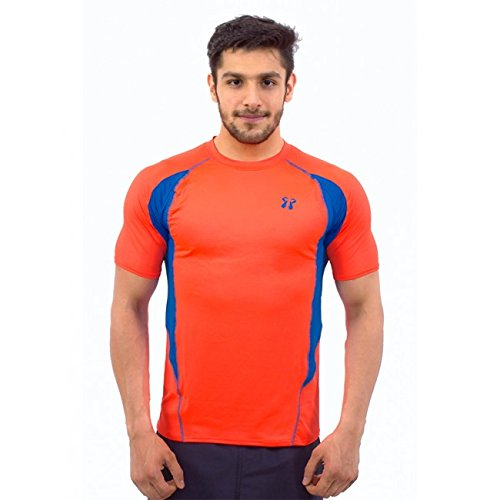 Core Athletics Coupe Half Sleeves Orange fire/Midnight Blue