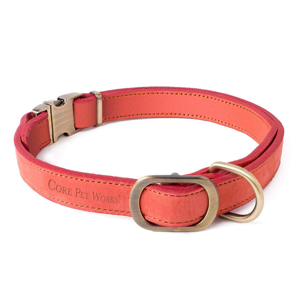 CORE PET WORKS IRIS COLLAR DISTRESSED CHERRY : DOG COLLAR, DOG ACCESSORIES, PREMIUM COLLAR FOR Dogs