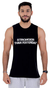 "Carbon 5 Muscle Tank""Stronger Than Yesterday"""