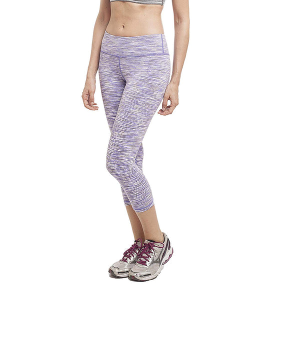 Alpha Half Leggings, Yogapants, Activewear, Dance jazzpants, Fashion Fitness wear - PURPLE