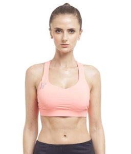 Core Athletics Pink Cotton Lycra Sports Bras