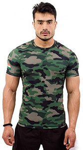 CORE ATHLETICS Men's Cotton Army Print Compression (Camouflage, Medium)