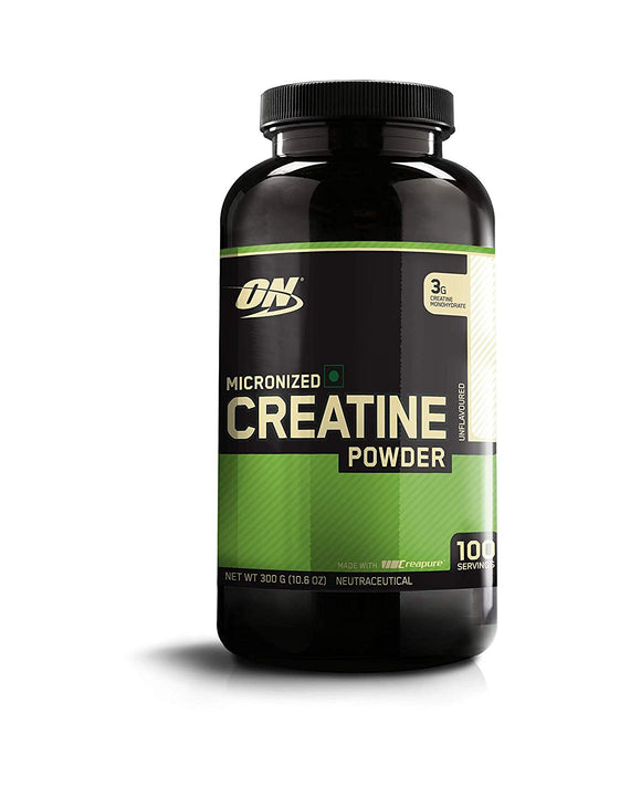 Optimum Nutrition (ON) Micronized Creatine Monohydrate Powder - 300 Grams (Unflavored)