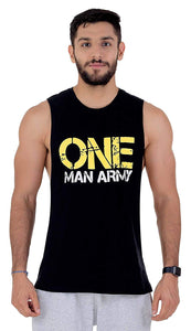 "Carbon 5 Mucle Tank ""ONE MAN ARMY"" Black"
