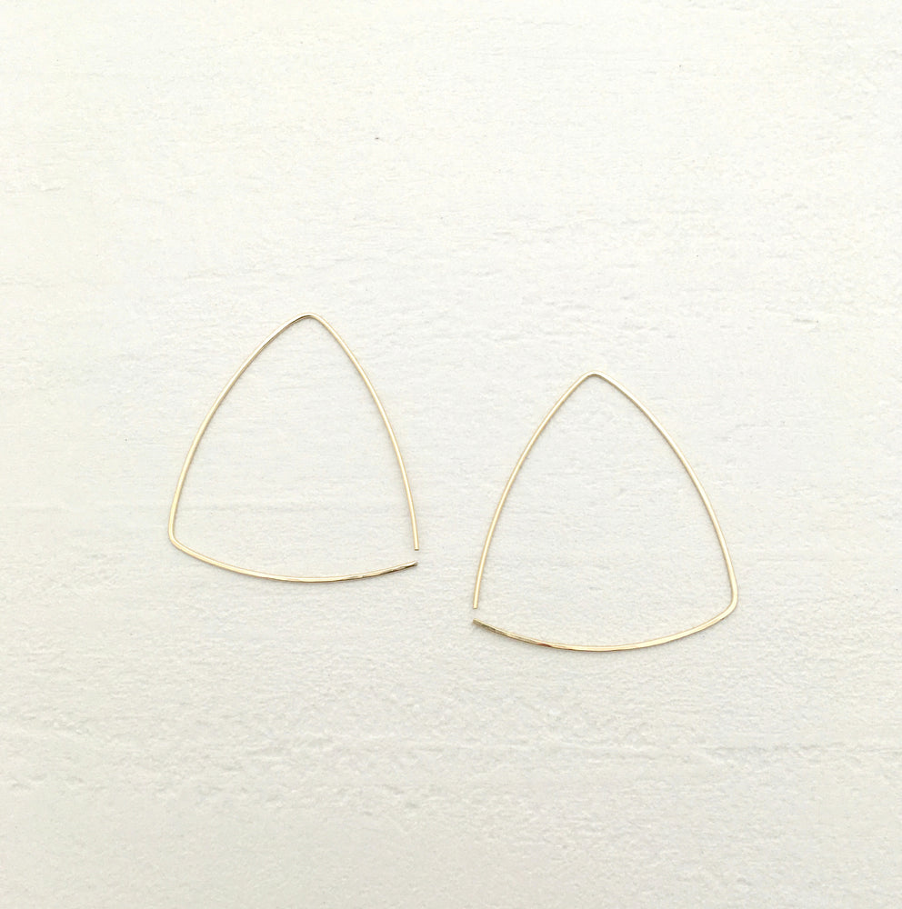 East Hoop Earrings in Gold