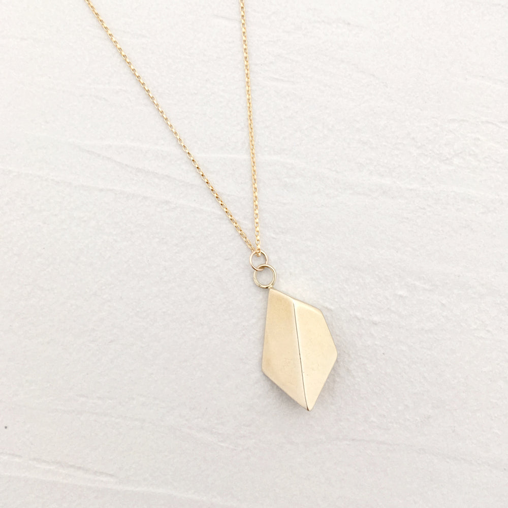 Heart Necklace in Brass and Gold