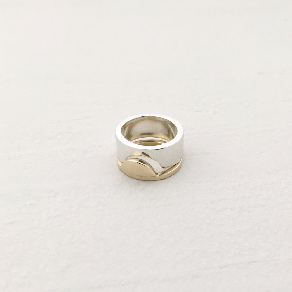 Sunrise Ring in Brass
