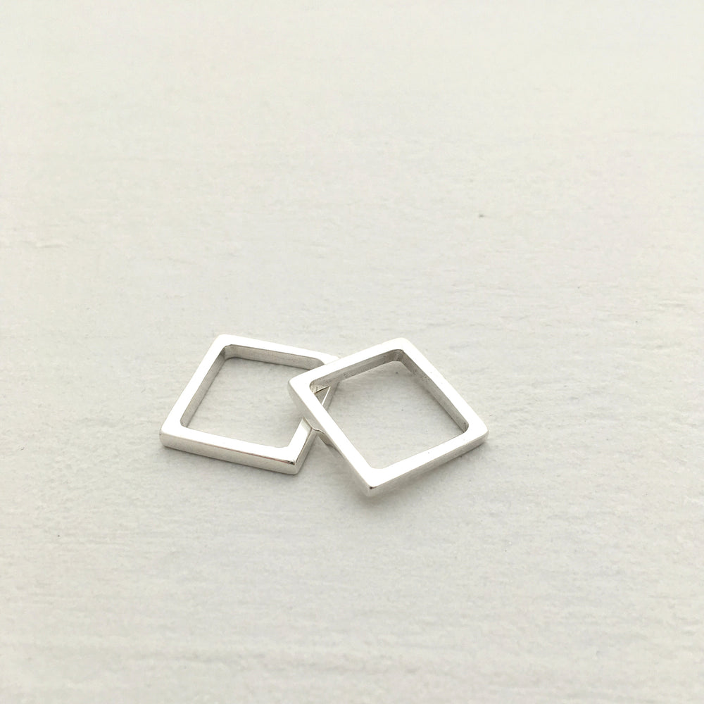 Square Ring in Silver