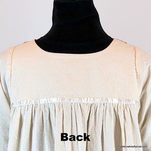 Cotton gown yoke, back view, no pattern.