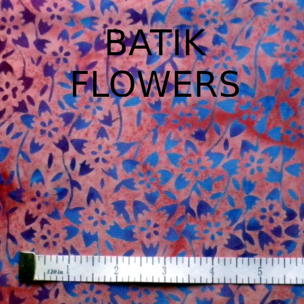 FACE MASK,BATIK FLOWERS (Price includes shipping)