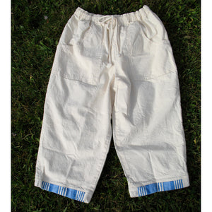 COTTON (MUSLIN) PAJAMA CAPRI PANTS