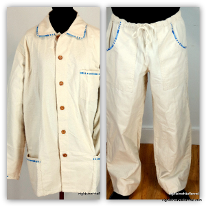 BUTTON TOP WARM WEIGHT PAJAMA SET