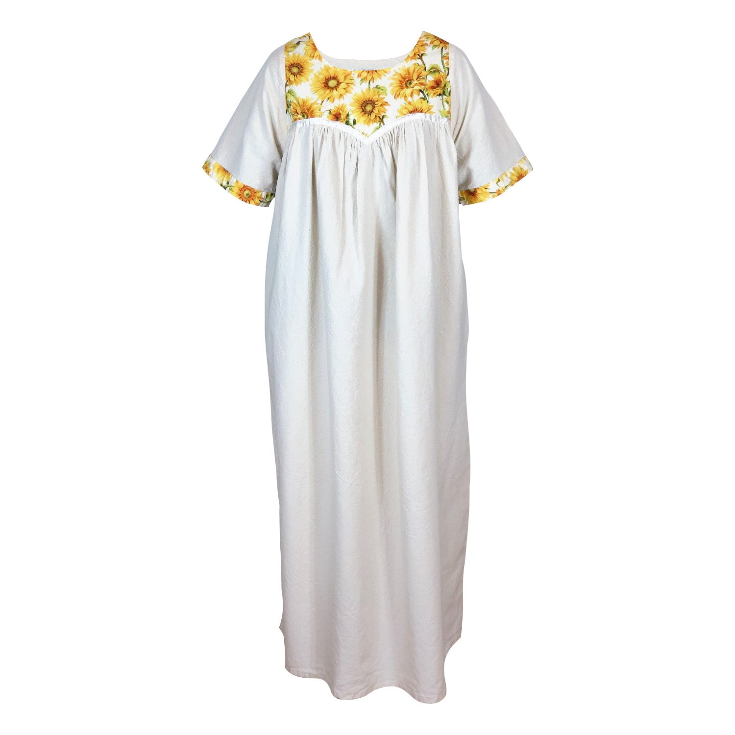 COTTON GOWN, SUNFLOWERS