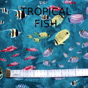FACE MASK, TROPICAL FISH (Price includes shipping)