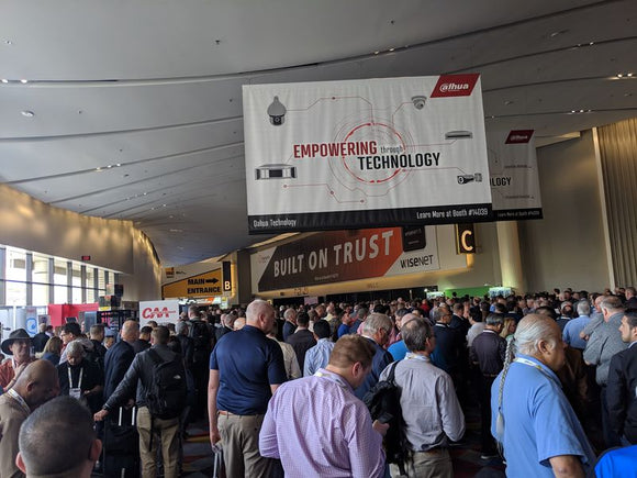 ISC West 2019 main entrance with Dahua sign