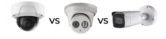 Dome vs Turret vs Bullet IP Security Camera
