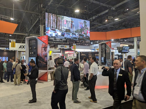 Hanwha Techwin Booth ISC West with Axis booth behind