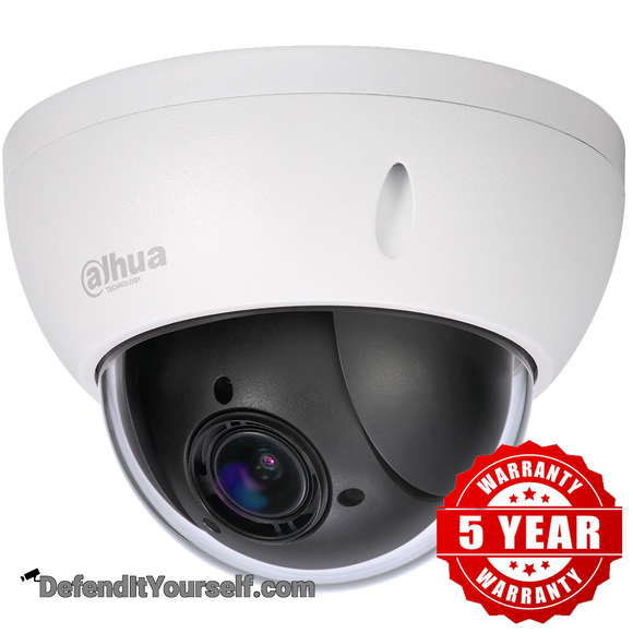 Dahua 2MP Starlight 4x PTZ Dome 22204TNI - DefendItYourself.com IP Camera