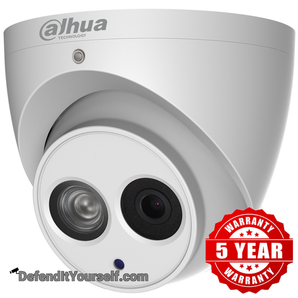 Dahua 4K 8MP Starlight IR 4mm ePoE Mini Eyeball / Turret N84CG54 - DefendItYourself.com IP Camera