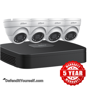 Dahua (4) 4 MP Eyeball IP Security Cameras with 4-channel 4K NVR Kit w/ 2TB HDD N444E42 - DefendItYourself.com Kit