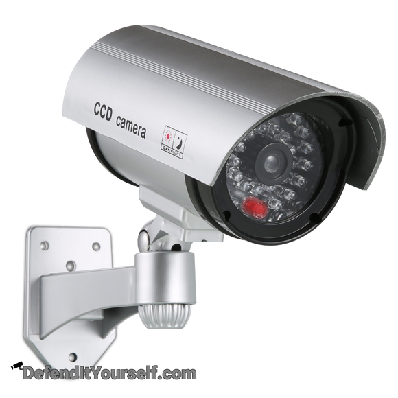 Dummy Bullet CCTV Security Camera with Red Light - DefendItYourself.com Accessories