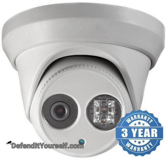 Hikvision OEM DarkFighter 3 Megapixel Turret IP CCTV Security Camera - DefendItYourself.com IP Camera